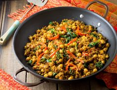 Easy to make, great nutrition, wonderful Indian flavors – this Indian Quinoa and Chickpea Stir Fry has it all. It's perfect for #MeatlessMonday, or any day you're craving a fun, h…