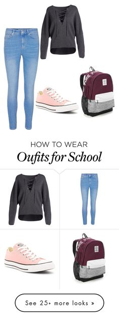 """""""School"""" by morganza16 on Polyvore featuring Vince, Converse and Victoria's Secret"""