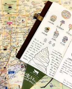 Korean ice cream #travelersnotebook #midoritravelersnotebook #midori #journal #journaling #vintagestyle #vintagejournal @thedailywriting