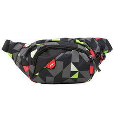 Waterproof Geometric Pattern Oxford Waist Bag Belt Bags 7dc9a5785e