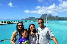 The World is a Book, Family Travel Bloggers in Bora Bora. Travelling with My Kids Changed Me- #travellingwithkids  Pinned by Curvy Mama