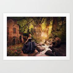 #masha #bear #mashaimedved #shaynart #fantasy #magic #magical #scene #fairy #fairytales #mystery #art #print #mystical