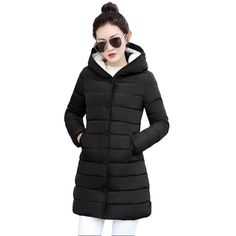 7414c5fb9cc41 Buy Women Coats Thicken Warm Jacket Female Thick Cotton Padded Lining Winter  Coat at narvay.