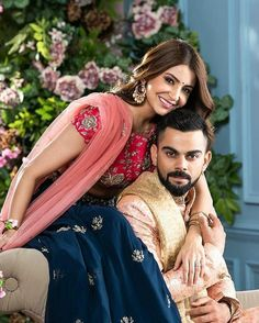 Anushka Sharma looks Phenomenal and Virat Kohli is looking Dapper in their Stunning Wedding wears by Manyavar Mohey.