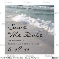 Shop Beach Wedding Save The Date - Ocean Waves & Sand created by JillsPaperie. Personalize it with photos & text or purchase as is! Beach Theme Wedding Invitations, Save The Date Invitations, Save The Date Cards, Invites, Dream Wedding, Wedding Day, Fantasy Wedding, Wedding Beach, Beach Weddings