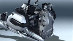 2013 BMW Motorcycles R1200GS Water-Cooled Boxer Engine (internal view) V...