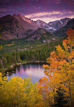 Sunset over Bear Lake, Aspen Colorado intomymindseye at Tumblr