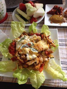 Frühstücksidee - gebratenes Gemüse mit Eiweißomlett