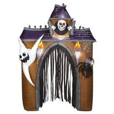 Halloween Airblown Haunted House Décor,