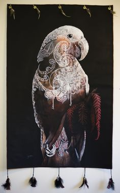 Sofia Minson - The Kaka is Calling showing eyelets & feathers