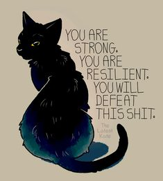 18 Illustrations Every Person With Anxiety Should See Immediately Inspirational Animal Quotes, Cute Animal Quotes, Cute Quotes, Motivational Quotes, Cute Animals, Mon Combat, You Are Strong, Cute Drawings, Positive Quotes
