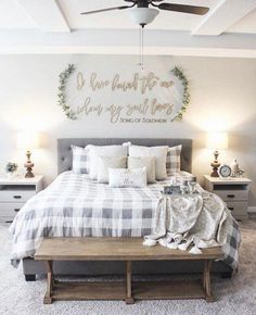 If you are looking for Farmhouse Master Bedroom Decor Ideas, You come to the right place. Below are the Farmhouse Master Bedroom Decor Ideas. Farmhouse Master Bedroom, Home Bedroom, Modern Bedroom, Contemporary Bedroom, Bedroom Ideas Master On A Budget, Master Bedroom Furniture Ideas, Bedroom Wardrobe, Bedroom Small, Furniture Layout