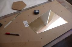 Ready to cut the glass now, lets get organised with my tools and work out what and where I got to cut...
