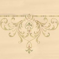 Decorate and emphasize areas of a grand ceiling above the dining room, living room, or entry way with our Hampton Center Ceiling Stencils. Use the Hampton Ceiling Stencil Set for a complete and cohesi Stencils, Damask Stencil, Stencil Painting On Walls, Faux Painting, Islamic Pattern, Motif Arabesque, Royal Design, Art Nouveau, Ceiling Medallions
