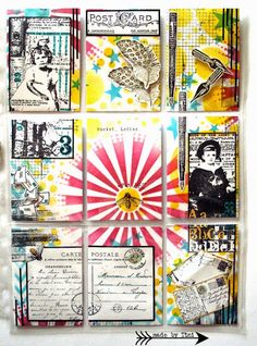 My Pocket Letters - Mixed Media -  http://arts-by-tini.blogspot.de/p/pocket-letters.html