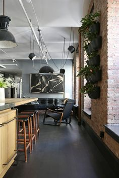 This is the Great Jones NoHo loft in New York designed by Union Studio who created some exceptional pieces of bespoke furniture for the space.
