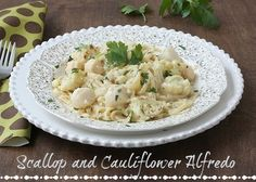 Scallop and Cauliflower Alfredo | Celebrate the New Year with a Recipe for a Slimmed Down Meal from Makeover Moms' Kitchen | YUM! @Meal Makeover Moms  Makeover Moms