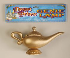 Everyone will be asking to rub this Genie Lamp,hoping for their three wishes to be granted this Halloween. Even if you can't grant them, your genie, sultan or harem girl costume will look great with t