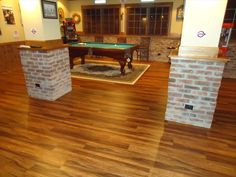 BuildDirect – Laminate - 12mm Exotic Wide Plank Collection – Balinese Rosewood - Living Room View