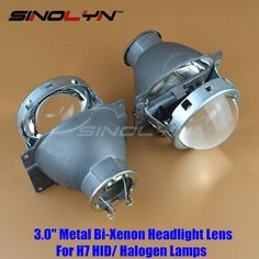 46.63$  Watch here - http://ali9jm.shopchina.info/go.php?t=32796215490 - SINOLYN 3.0 inch H7 HID Xenon/ Halogen Headlight Bi-Xenon Projector Lens Q5 Metal LHD For Car Styling Headlamp Tuning Retrofit 46.63$ #magazineonlinewebsite
