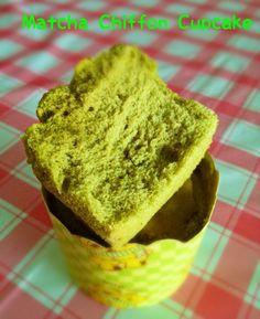 AgnesBakes: Matcha Chiffon Cupcake
