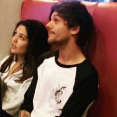 Louis Tomlinson and Danielle Campbell (The Originals) getting milkshakes