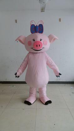 0544b205a59aa1 Vente chaude 2014 bande dessinée pour adultes joli petit cochon rose  mascotte costume déguisement costume de