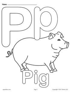 FREE Printable Uppercase And Lowercase Letter P Coloring Page Worksheets Like This Are Perfect For Toddlers Preschoolers Kindergartners