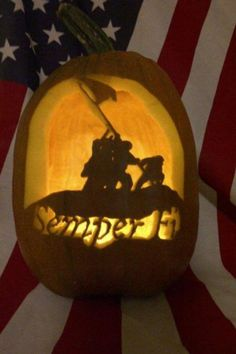 Marine pumpkin for fall.  Especially appropriate around Thanksgiving.