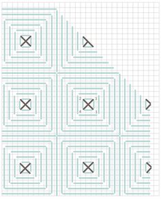 Plastic Canvas Stitches, Plastic Canvas Patterns, Needlepoint Stitches, Needlework, Diy Bags Tutorial, Crochet Storage, Fabric Yarn, Chart Design, Bargello