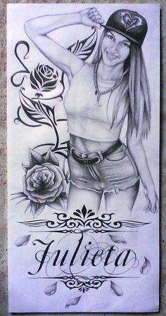 Dibujo-Norma Perez.(Julieta)