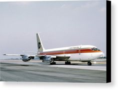 Continental Airlines Los Angeles July 22 1972 Canvas Print / Canvas Art by Brian Lockett Boeing 720, Boeing Aircraft, Passenger Aircraft, Vintage Travel, Vintage Airline, Airline Flights, Commercial Aircraft, Civil Aviation