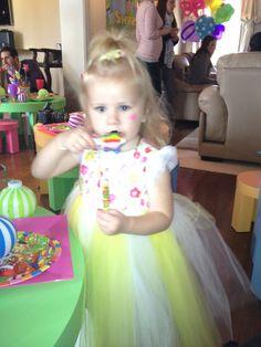 Little birthday girl having a fun time