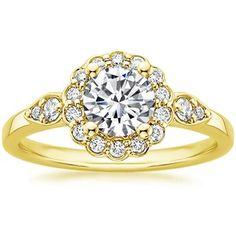 sneek peek at what's to come my lovelies.  18K Yellow Gold Camillia Diamond Ring (1/4 ct. tw.), top view