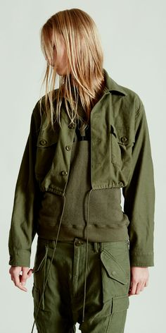 NLST l Cropped Surplus Shirt Jacket and Harem Cargo Pants #NLST #SS15 #womenswear nlst-usa.com