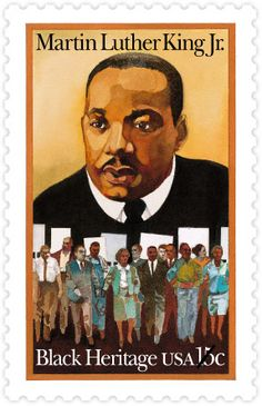 Martin Luther King, Jr., the second issue in the Black Heritage series, issued in 1979