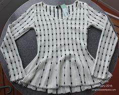 February 2016 Stitch Fix Review - Mak Sandri Peplum Pullover Sweater- virginiasweetpea.com Adorable!!!