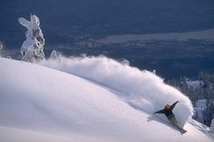 Powder Turn in Vancouver, Mt. Seymour.