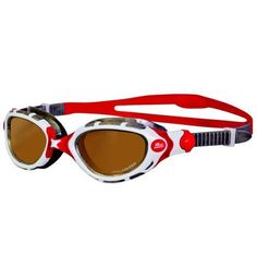Zoggs Predator Flex Polarized Ultra Goggles Red/White