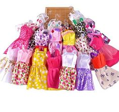 US 10 pcs/Lot Fashion Handmade Party Clothes Dresses outfit for Barbie Doll Toy Description Features:100% Brand NewFashion style and easy to wearNice ... #outfit #barbie #doll #dresses #clothes #handmade #party #fashion