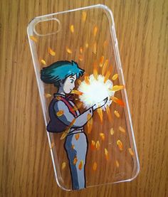 Hand painted Howl's Moving Castle phone case Im selling customised cases through my Etsy site; http://ift.tt/206NP1o by bethedwardsart