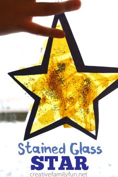 Stained Glass Star Suncatcher – Creative Family Fun Make a Stained Glass Star Suncatcher or many of them to decorate your windows when you make this fun Christmas craft for kids. Preschool Christmas, Christmas Crafts For Kids, Christmas Activities, Holiday Crafts, Christmas Stars, Stained Glass Christmas, Stained Glass Crafts, Toddler Crafts, Preschool Crafts