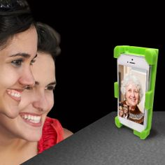 Hands free video chat with InStage. So easy and convenience, high quality silicone stand holds iPhone securely and amplifies sound 400%. Perfect for FaceTime or video chat. http://www.amazon.com/datexx