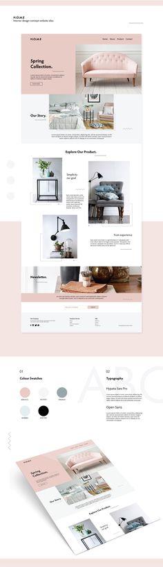 Interior design website idea on Behance