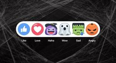 New Spooky Facebook Emojis Reactions For Halloween