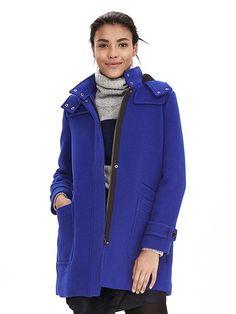 Moleskin Duffle Coat WE567 Coats at Boden | Fashion | Pinterest ...