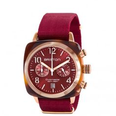 Clubmaster Gold Chronograph tortoise shell – red sunray dial