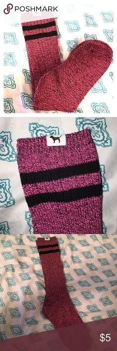 VS pink knee high socks NEW VS PINK knee high socks PINK Victoria's Secret Accessories Hosiery & Socks