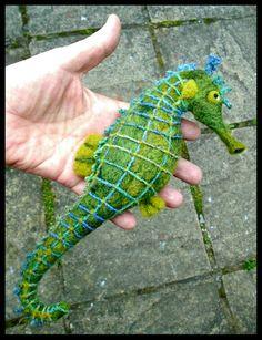 Needle felted seahorse - SShaw