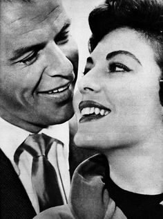 "Ava Gardner and Frank Sinatra.  Frank Sinatra and Ava Gardner. Although they ultimately divorced, they were each other's one true love.  ""Every single day during our relationship, no matter where in the world I was, I'd get a telegram from Frank saying he loved me and missed me."" -Ava Gardner"
